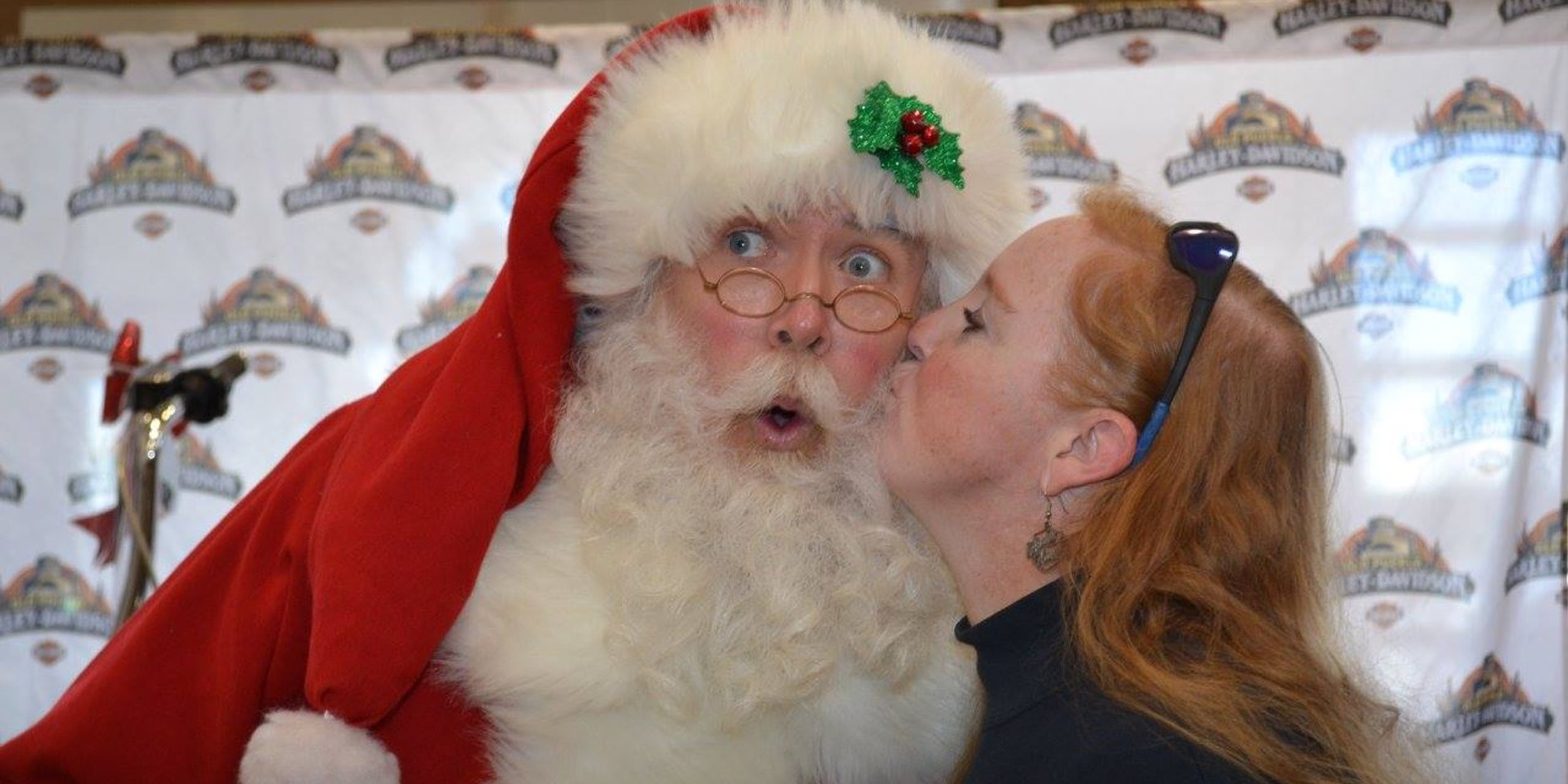 Stealing a kiss from Santa